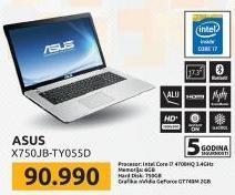 Laptop X750JB-TY055D