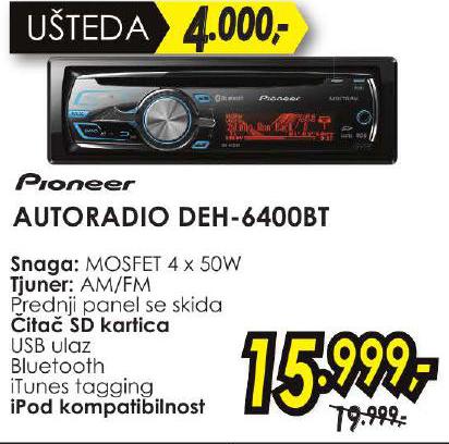 Autoradio DEH-6400BT