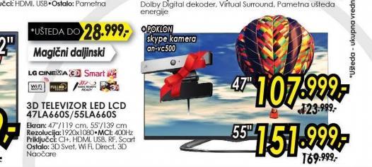 Televizor LED LCD 47LA660S