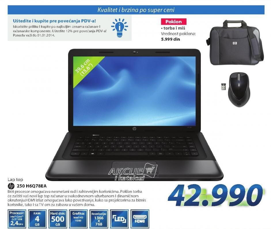 Laptop računar HP250 H6Q78EA