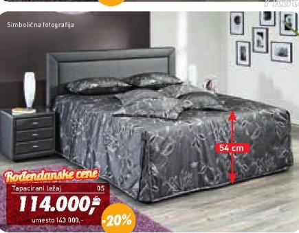"""Tapacirani krevet """"Vesuv"""""""