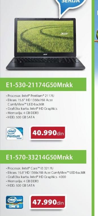Laptop E1 570 33214G50MNKK