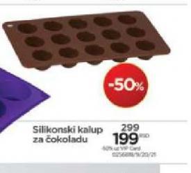 Silikonski kalup za čokoladu
