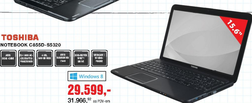 Laptop Notebook C855D-S5320