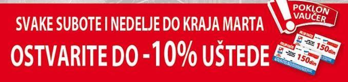 Ostvarite do 10% uštede