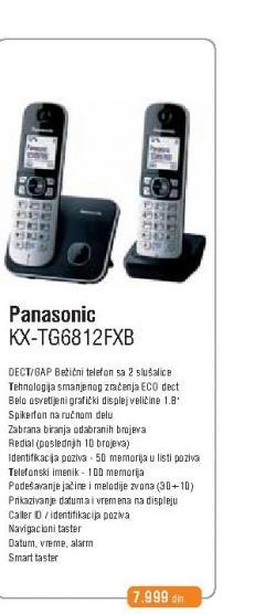 Fiksni Telefon  KX-TG 6812FXB