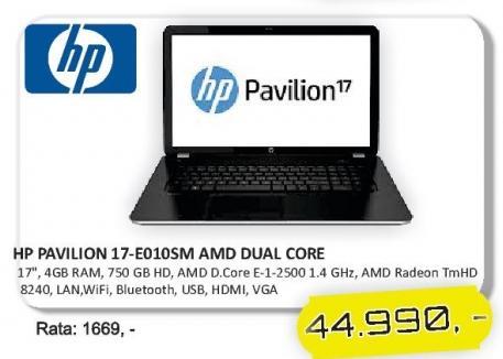 Laptop Pavilion 17-e010sm Amd Dual Core