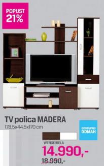 TV polica Madera. Wenge/bela,