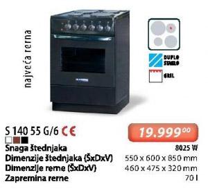 Šporet S 14055 G/6
