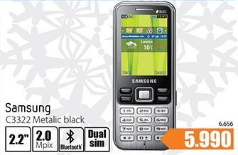 Mobilni Telefon C3322 Metalic Black