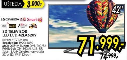 """Televizor LED 42"""" 42ls6200s"""
