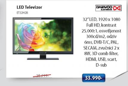 LED Televizor ET32H2B