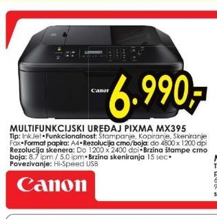 Multifunkcijski uređaj PIXMA MX395