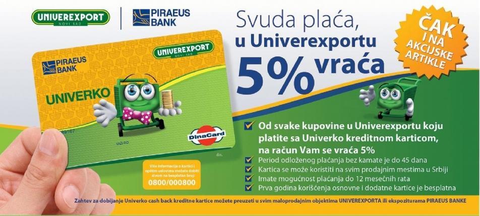 Svuda plaća u Univerexportu 5% vraća