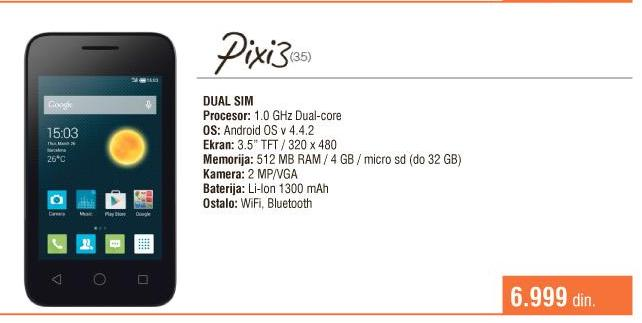 Mobilni telefon  Pixi3