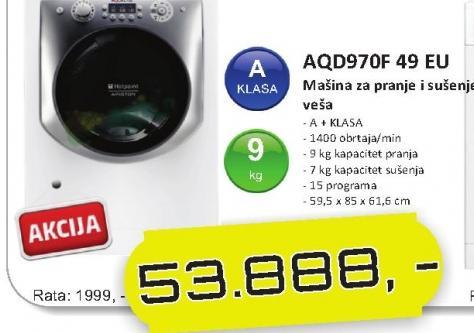 Hotpoint Mašina Za Pranje I Sušenje Veša Aqd970F 49 Eu