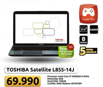 Laptop Satellite L855-14J