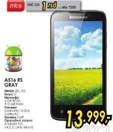 Mobilni telefon A516 Rs Gray