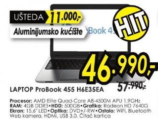 Laptop ProBook 455 H6e35ea