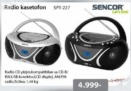 Radio kasetofon SPT-227