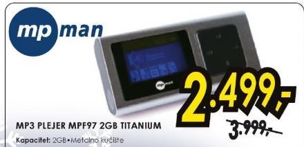 MP3 plejer MPF972GB Titanium
