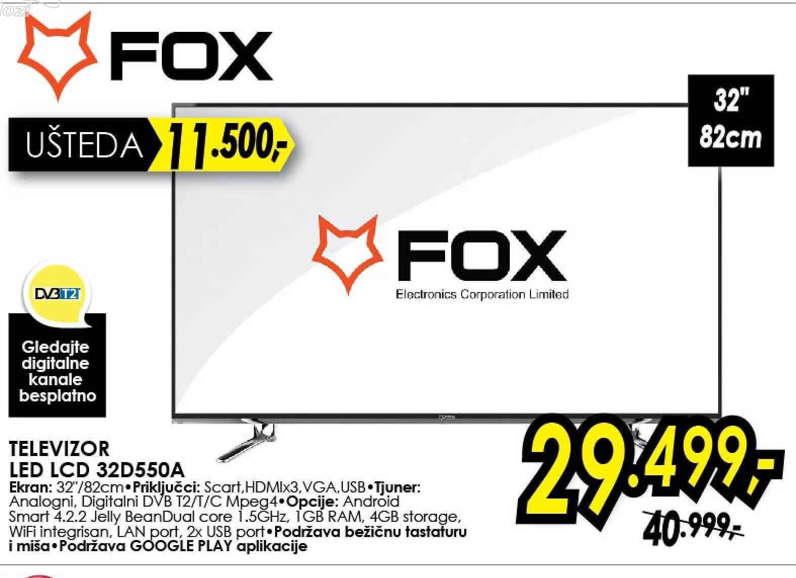 """Televizor LED 32"""" 32D550A"""