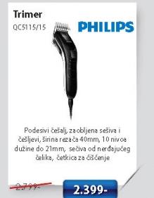 Trimer Za Šišanje Qc5115/15