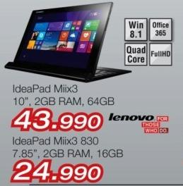 Laptop IdeaPad Miix3