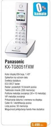 Telefon KX-TG8051FXW