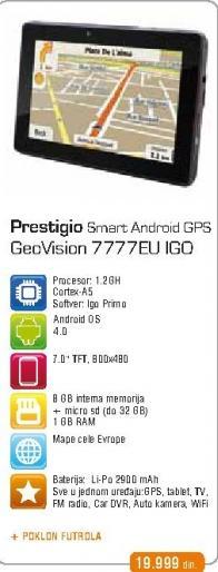 GPS Geovision 7777EU iGO