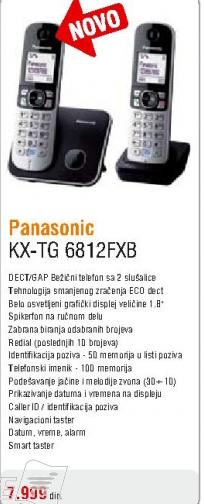 Telefon bežičniKX-TG6812FXB
