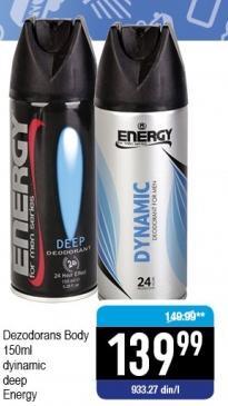 Dezodornas Energy