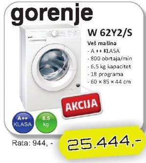 Mašina za veš W62Y2/S