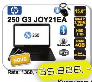 Laptop 250 G3 J0y21ea