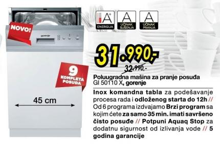 Sudomašina GI50110X