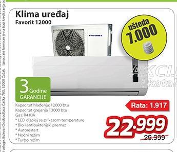 Klima uređaj 12000