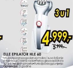 Depilator HLE 60
