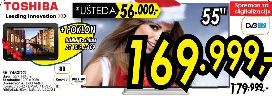 """Televizor LED 50"""" 3D 55l7453dg"""