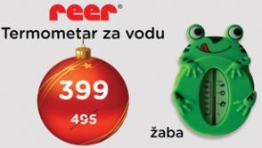 Termometar za vodu žaba Reer