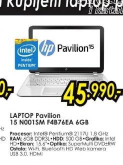Laptop Pavilion 15-n001sm F4B76EA 6