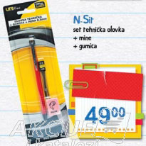 N. Sit set tehnička olovka + mine + gumica