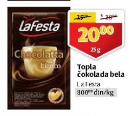 Topla čokolada bela