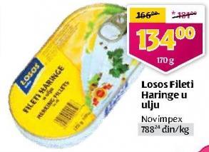 Haringa fileti u ulju