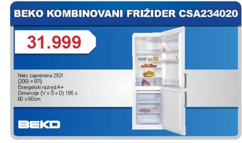 Kombinovani Frižider Csa 234020