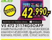 Laptop Aspire V5-472-21174G50app