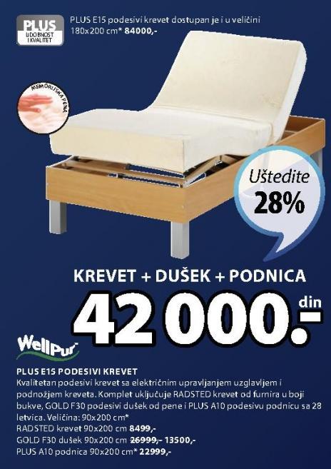 Krevet Radsted 90x200cm