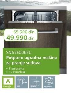 Ugradna mašina za pranje sudova Sn65e006eu