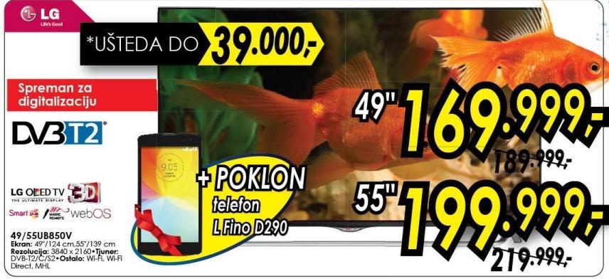 """Televizor LED 55"""" 3D 55ub850v"""