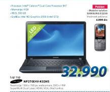 Laptop računar NP270E4V-K02HS+poklon mobilni telefon Samsung E2250