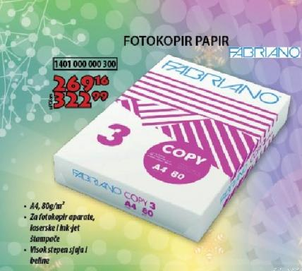 Fotokopir papir Fabriano